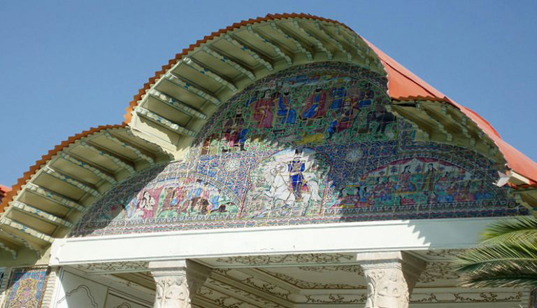 Tile Work Above The Mansion Of Eram Garden