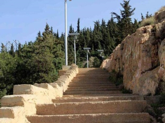 Stairs To Reach The Gahvareh Did Of Shiraz