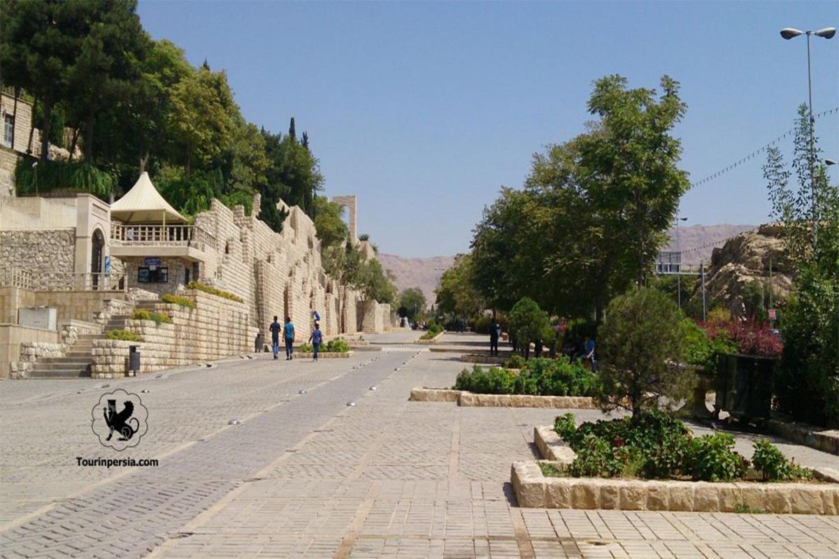 The Area Of Tomb Of Khwaju In Shiraz