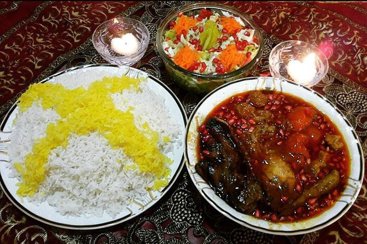 Gheimeh Stew With Eggplant