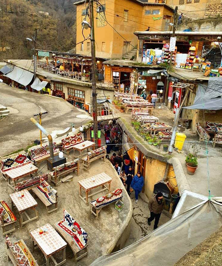 Masouleh Marketplace In Gilan Province