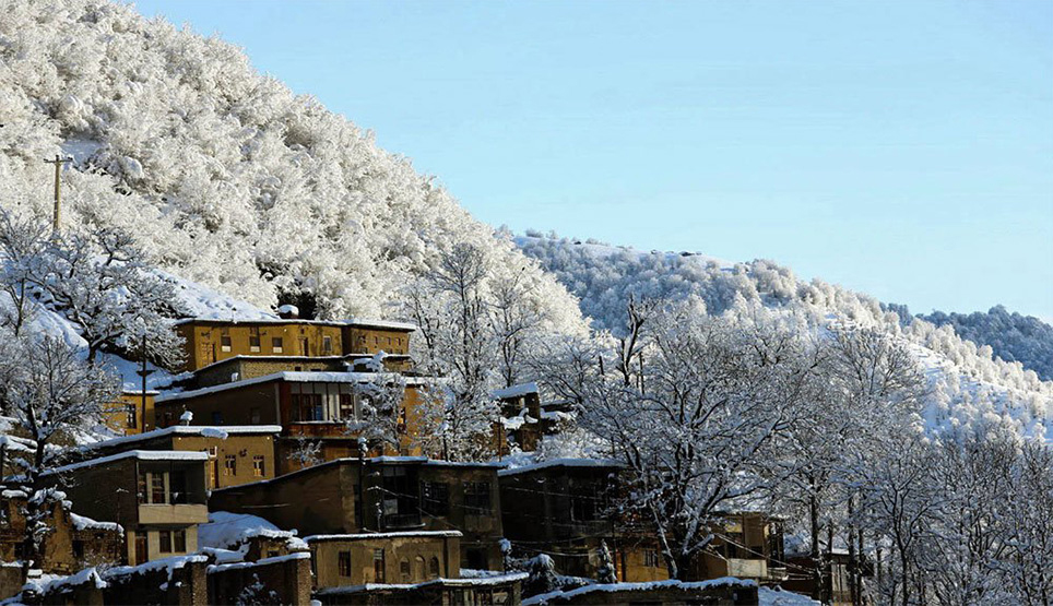 Masuleh On A Snowy Day