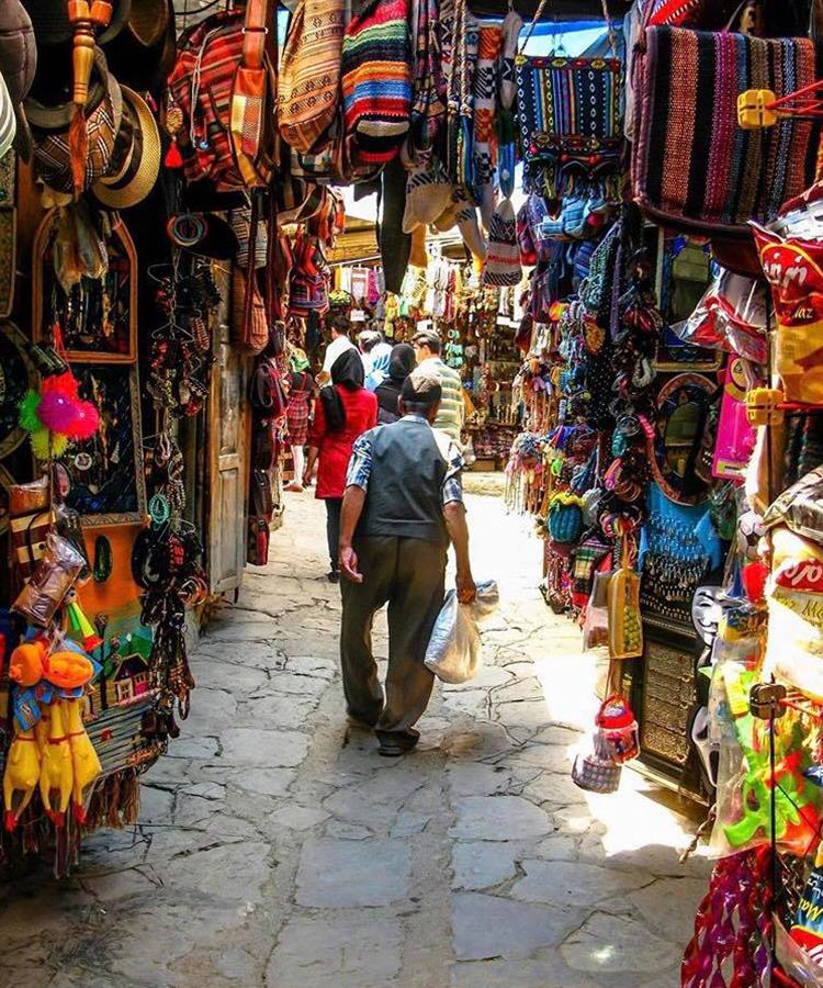 Masouleh Marketplace In Iran