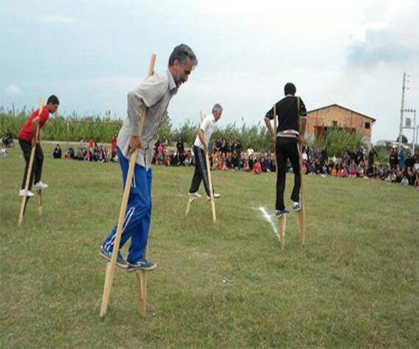 Pacho local game in Gilan