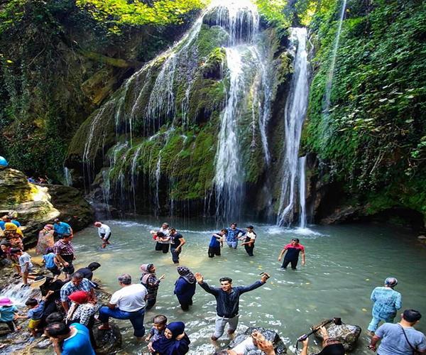 آبشار کبودوال در استان گلستان
