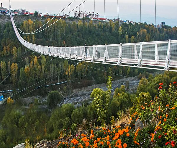 پل معلق مشگین شهر در اردبیل