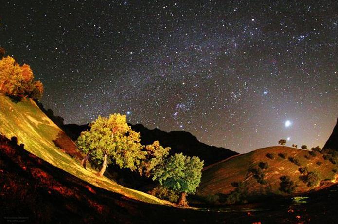 ستارهها در آسمان دشت سوسن ایذه