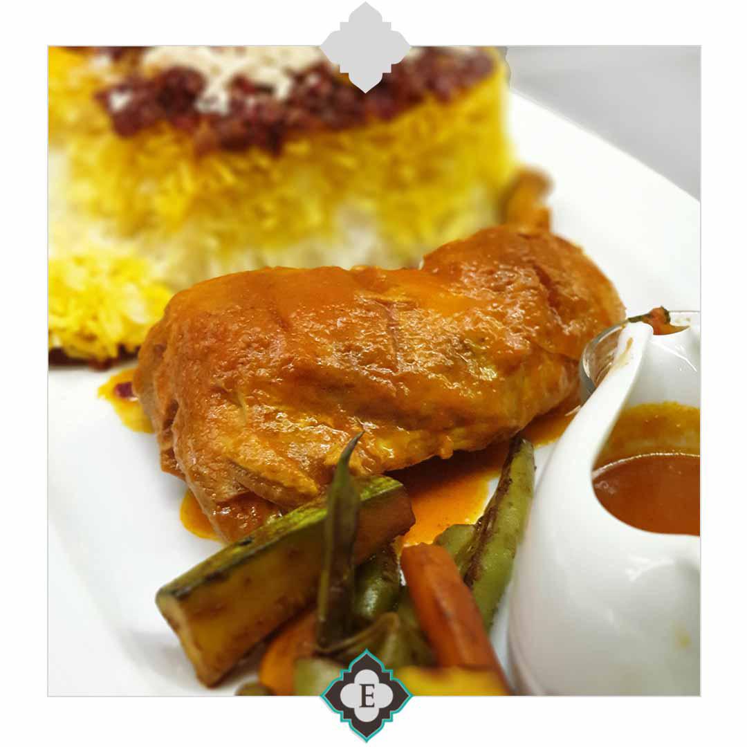 غذای رستوران مارلین در هتل الیزه شیراز