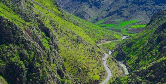 جاده روستای نگل کردستان